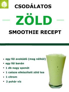 Zöld smoothie recept Cocktail Drinks, Cocktails, Smoothies, Sneaker, Tableware, Hot, Craft Cocktails, Smoothie, Slippers