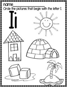 Preschool Decor, Preschool Education, Preschool Coloring Pages, Alphabet Coloring Pages, Letter I Activities, Preschool Activities, Letter I Worksheet, Letter I Crafts, Beginning Sounds Worksheets