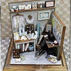 Miniature Sewingroom ♡ ♡ My Dollhouse