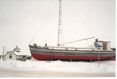 landmark @ Tuktoyaktuk; For more than 20 years, Our Lady of Lourdes schooner braved pounding storms and shifting ice floes to deliver supplies to far-flung Catholic missions in the Arctic, from Tuktoyaktuk to Cambridge Bay in what is now western Nunavut.