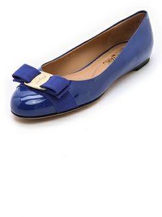 Salvatore Ferragamo Varina Patent Flats on shopstyle.com