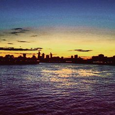 The City of London last night on my run taken from Canary Wharf #sunset #canarywharf #sundayrunday #cityoflondon #cityskyline by ashleygraham_13
