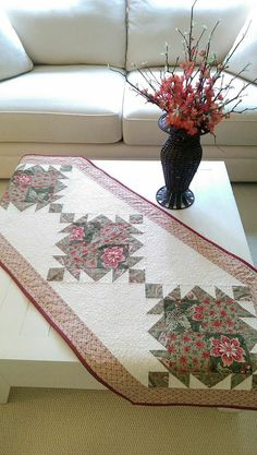 SALE Fall Quilt Pattern PDF Table Runner by MapleCottageDesigns