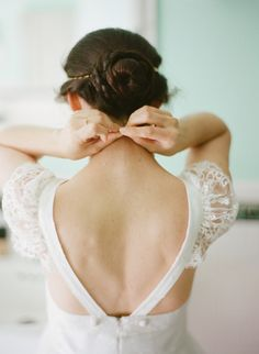 Great dress detail. Laguna Beach Wedding from Esther Sun