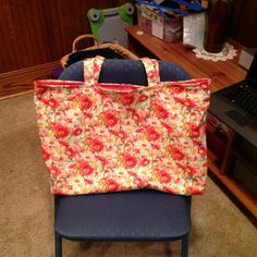 Reversible mommy size tote bag!