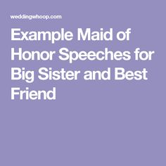 Funny Maid Of Honor Speeches ThatLl Have Your Guests In Splits