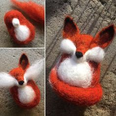 Fox Milo_Henry - I love this, and especially love the sketchbook drawings!Milo_Henry-sadly this doesn't lead anywhereWhat a good idea to sketch out what you're gonna felt.such a cute felt fox Wool Needle Felting, Needle Felting Tutorials, Needle Felted Animals, Felt Animals, Felt Animal Patterns, Felt Crafts Patterns, Felt Fox, Felt Birds, Felted Wool Crafts