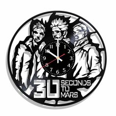 Thirty Seconds to Mars rock band wall clock Thirty Seconds to