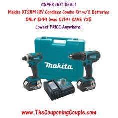 ***HOT DEAL*** Makita XT211M 18V LXT Cordless Combo Kit ~ ONLY $199.00 (Lowest Price Available) with FREE Shipping! Click the link below to get all of the details ► http://www.thecouponingcouple.com/makita-xt211m-18v-lxt-cordless-combo-kit/  #Coupons #Couponing #CouponCommunity  Visit us at http://www.thecouponingcouple.com for more great posts!
