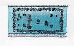 Miriam García Aguirre. Abysmal. 2017. Found Object & Embroidery Textile. (Proyecto Tejido recuperado/ Weave  Recovered Project). Tijuana. México. Foto: Estefany Maya.