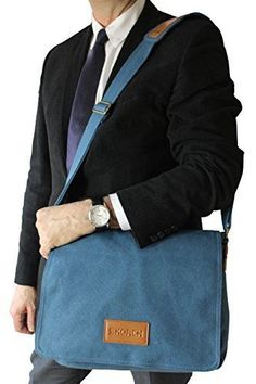 Canvas Messenger Shoulder Bag Men Women Crossbody School Travel Carry Laptop New #SKORCH