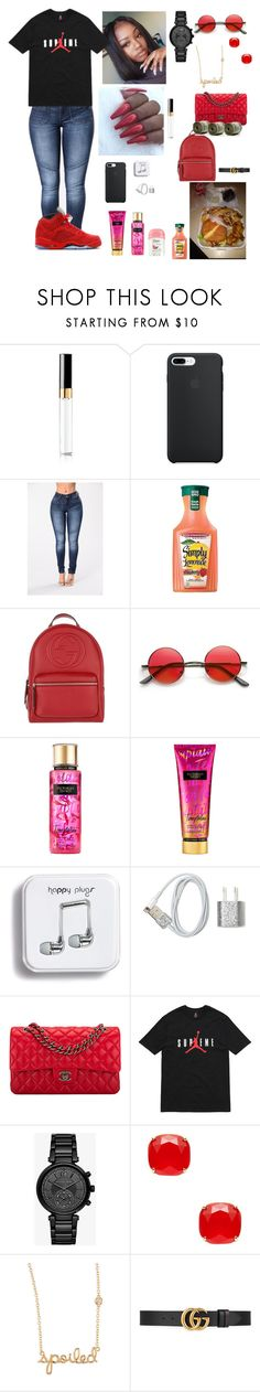 """""""Tuesday 8/22/17 9th day of school ❣️"""" by aleciadowdemll ❤ liked on Polyvore featuring beauty, Chanel, Gucci, Victoria's Secret, Theory, Michael Kors, Kate Spade and Sydney Evan"""