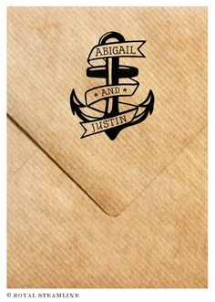 Anchors Away Monogram Stamp by Royal Steamline
