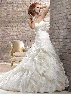 Gabrielle by Maggie Sottero Available in: white, ivory (shown)