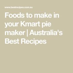 It's the kitchen appliance that's taken Australia by storm! So we've rounded-up our favourite recipes that you can easily cook or adapt to your pie maker. Mini Pie Recipes, Best Dessert Recipes, Fun Desserts, Snack Recipes, Cooking Recipes, Snacks, Mini Pies, Mini Quiches, Donna Hay Recipes