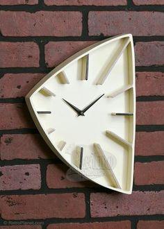 The Prague Wall Clock Cream Colored Clocks Retroplanet.com