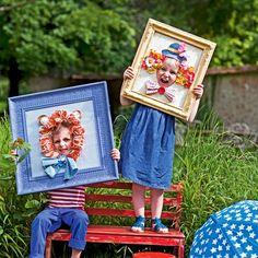 Tableaux de lion et clown avec trou pour la tête pour les enfants