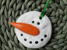 Salt Dough Snowman Creating salt dough is a fun activity for kids and it's a great material to use to create homemade ornaments, so this is like two crafts in one! For this ornament, kids can shape the dough into a simple snowman that would be a great gift to give a friend for the holidays.