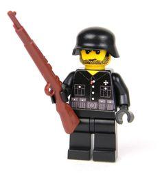 custom German WW2 wehrmacht Soldier made with real LEGO(R) Kar98 Black #LEGO