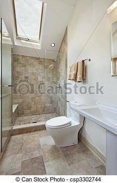 skylight over shower Alcove Bathtub, Wash Basin, Remodel, Downstairs Loo, Small Bathroom, House, Bathroom, Powder Room, Bathtub