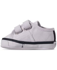 db4f688be33 Polo Ralph Lauren Baby Boys  Dyland Ez Layette Crib Sneakers from Finish  Line - WHITE CANVAS W NAVY PONY 1