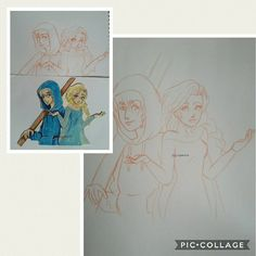 Working on re drawing jack and elsa drawing that i did on my first yr on ig, I like the first  sketch of elsa more than the second �� I'll need to fix jack's face aswell ❄ (Original and first sketch on left and 2nd sketch on right)  #art #artlover #artwork #drawing #illustration #sketch #disney #frozen #jack #elsa #followartist #deletesoon http://misstagram.com/ipost/1551563341498067728/?code=BWIQqN4gqsQ