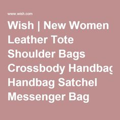 Wish | New Women Leather Tote Shoulder Bags Crossbody Handbag Satchel Messenger Bag