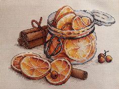 """Finished work by pattern """"Jar with lemons"""" #sa_stitch #sa_pattern #pattern #crossstitch"""