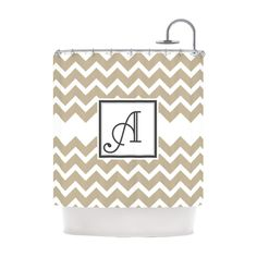 Kess InHouse Original Monogram Chevron Personalized Shower Curtain - KIH044ASC01A