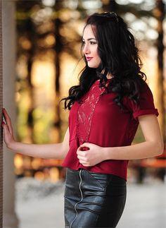 Bayan Bluz 2523 Kırmızı| Modelleri ve Uygun Fiyat Avantajıyla | Modabenle