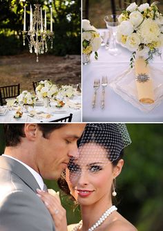 Grand Engagements: Featured on Grey Likes Weddings :: Great Gatsby Inspired Wedding