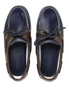7209d624a87 Timberland Men s Classic 2 Eye Boat Shoes - Vintage Indigo and Potting Soil