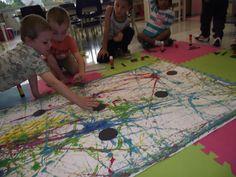La maternelle de Francesca: Nos formes et couleurs en folie à la manière de Joan Miro!