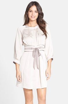 25094230598 Cynthia Steffe  Axelle  Satin Shirtdress available at  Nordstrom White  Satin Dress