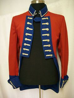 2ded6ecf281 Vtg Mens Womens Military Marching Band Uniform Tuxedo Fish Tail Jacket Coat  Wool
