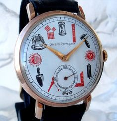 GIRARD PERREGAUX - MASONIC DIAL. Surprisingly good looking watch...most are not this well done...