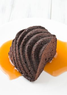 Chocolate Ginger Cake with Bourbon Caramel Sauce by Sugar and Snapshots