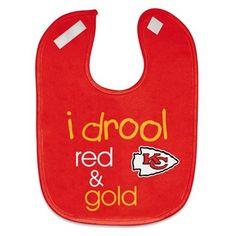 Kansas City Chiefs Mesh Drool Baby Bib - Red my baby needs this bib!