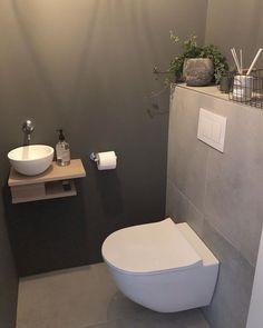 ⋅ ∙ ⋅ Nog 1 dag werken & dan begint onze (mi… – ⋅ ∙ ⋅ One more day of work & then our (mi … – Small Toilet Room, Guest Toilet, Downstairs Toilet, Small Half Bathrooms, Bathroom Design Small, Bathroom Interior Design, Bathroom Colors, Bathroom Ideas, Understairs Toilet