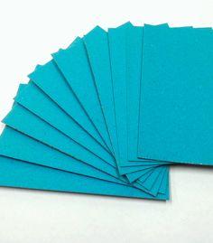 Papel Cartão Color Face Azul ciano já cortado nos formatos A3 e A4, espessura de 2,00 mm