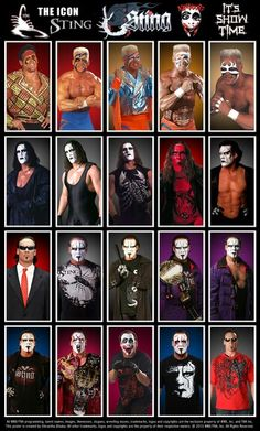 The Many Faces of Sting - Unexplained Mysteries Of Random Cool Stuff! The Many Faces of Sting #wwe