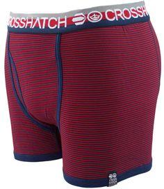 mens boxer Crosshatch underwear 2 pack trunks shorts plain striped printed new