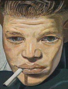 Lucian freud boy smoking 1951