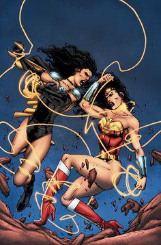 """SENSATION_COMICS_FEATURING_WONDER_WOMAN_13En """"Besties"""", tres artistas asumen el desafío de toda la vida como un trío de estrellas del atletismo de secundaria frente a la Mujer Maravilla en un pie de raza y por la tarde se vuelve aún más aterrador cuando Superwoman aparece!  En el momento de la batalla épica concluye, Superwoman y las niñas aprenden una lección importante: Nadie es mejor que Diana!"""