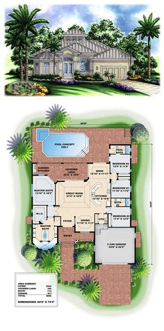 Florida Style House Plans 1786 Square Foot Home 1 Story 3