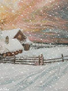 Зимний пейзаж Christmas Scenes, Christmas Art, Christmas Photos, Winter Christmas, Xmas, I Love Snow, I Love Winter, Winter Snow, Winter Images
