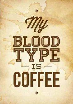 #coffee #bloodtype