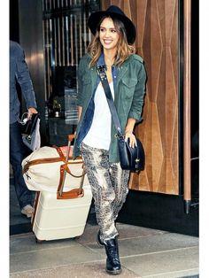 Jessica Alba: One Jacket, Five Ways via @WhoWhatWear