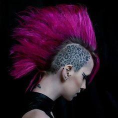 leopard print tattoo | Tumblr Leopard Print Tattoos, Leopard Print Hair, Leopard Spots, Head Tattoos, I Tattoo, Cool Tattoos, Love Your Hair, Cut My Hair, Mohawk Styles