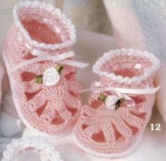 Free Crochet Baby Shoes Patterns | baby booties thread crochet patterns pattern mary janes ebay